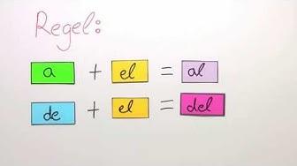 Verschmelzung der Präpositionen a und de mit el | Spanisch | Grammatik