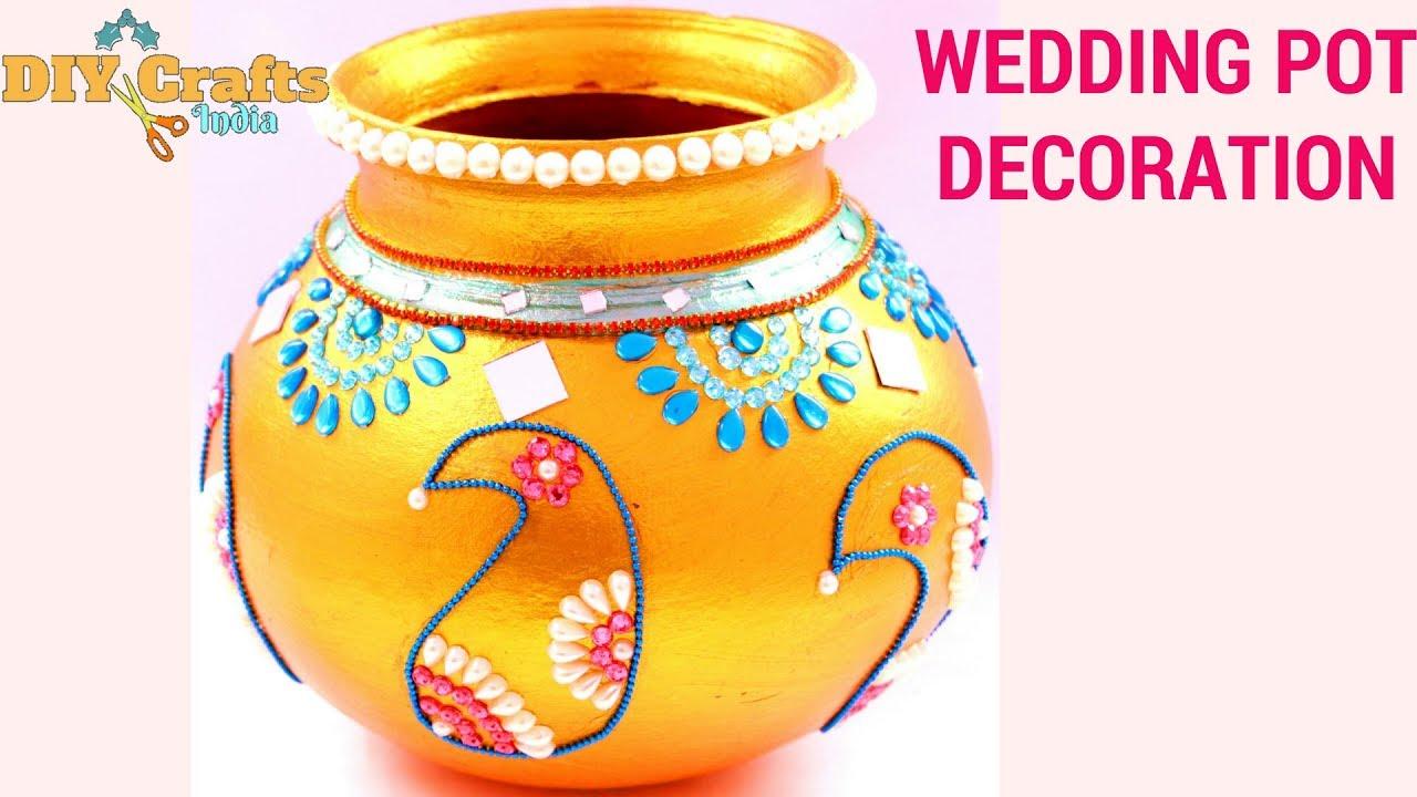 Wedding Pot Decoration Clay Pot Decoration Janmashtami