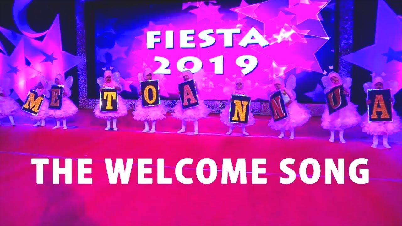 The welcome song - By Tiny Tots Pre KG , Fiesta 2019 , Al Burooj  International School