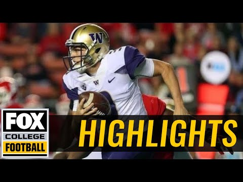 Jake Browning and the Washington Huskies defeat Rutgers 30-14 | HIGHLIGHTS | FOX COLLEGE FOOTBALL