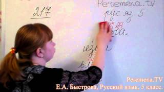 Peremena TV Русский язык, Быстрова, №217