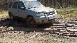 Форд Маверик 3,0 АКПП на шоссейной резине на глине(, 2013-05-03T19:07:52.000Z)