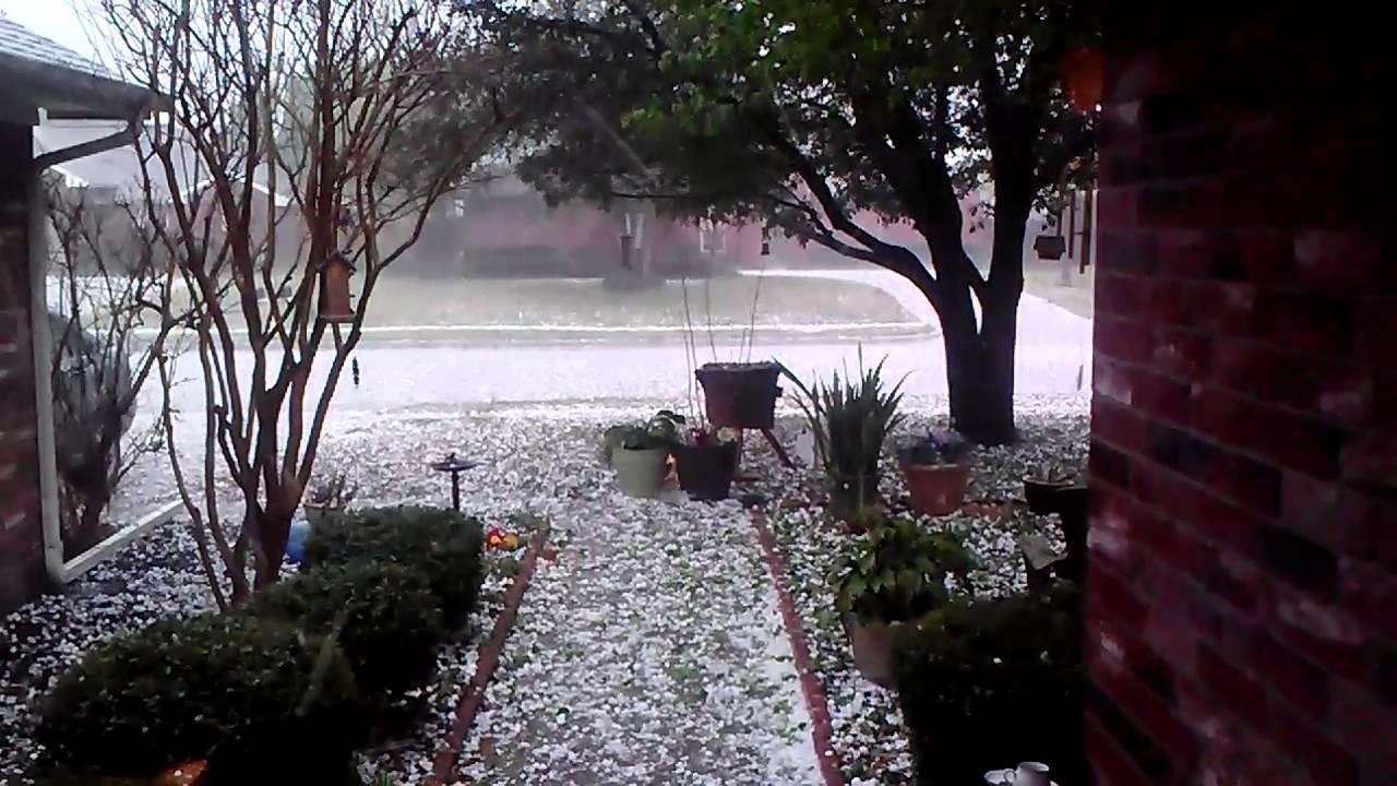 April 3, 2014 Hail Storm In Denton, TX
