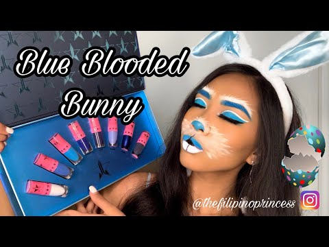 Blue Blooded Bunny - Easter/Halloween Bunny makeup tutorial feat. jeffree star #blueblood collection