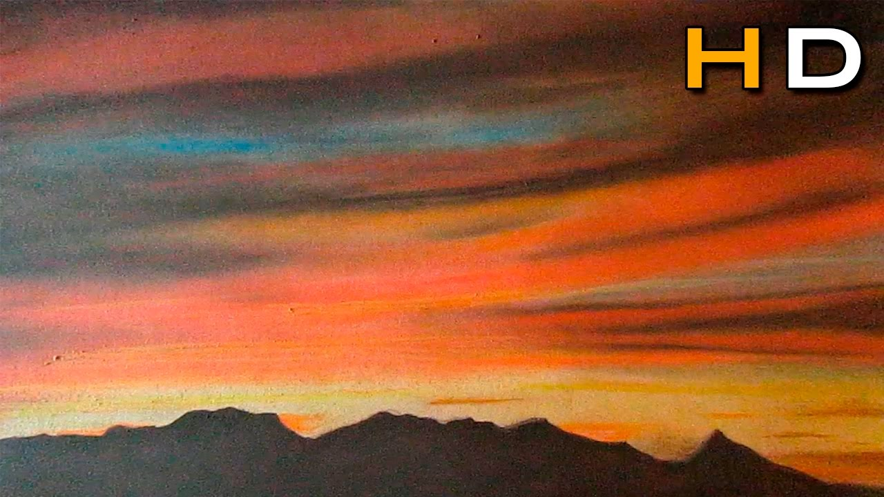 How to draw a sunset with colored pencils pitt pastel drawing landscape