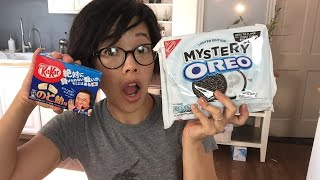 LIVE Mystery Oreo & Japanese Cough Drop KitKats Taste Test