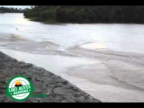 Rio Araguaia subindo em Luiz Alves GO -  Janeiro de