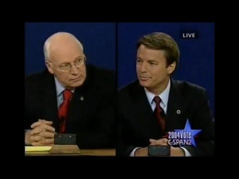 2004 VP Debate: John Edwards brings up Dick Cheney