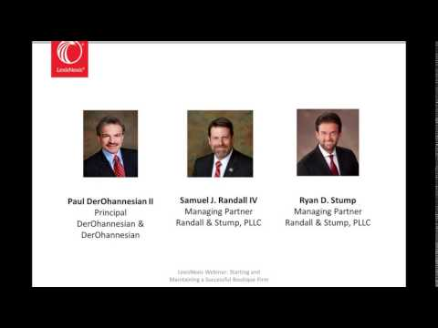 Starting and Maintaining a Successful Boutique Firm