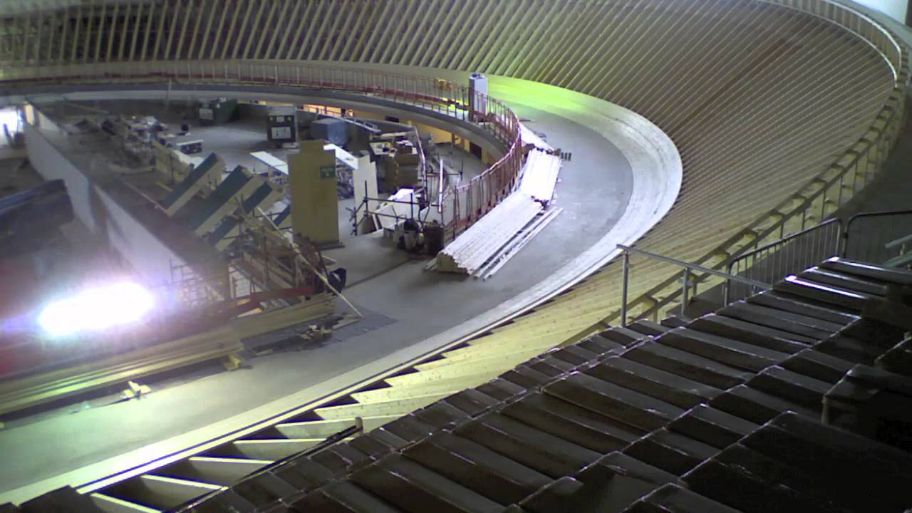 Derby Arena track construction - YouTube