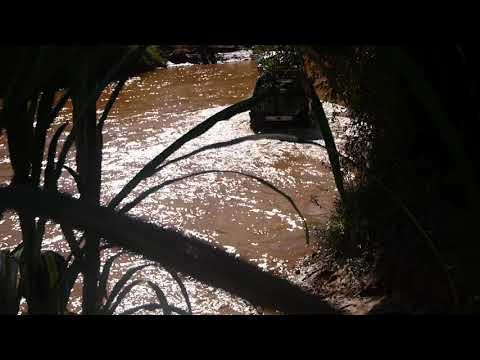 (T) Car crossing river near town of Belobaka, Madagascar (1)
