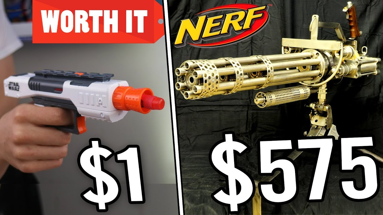 1 Nerf Gun Vs 575 Nerf Gun 24K Gold Nerf Gun - Youtube-9978