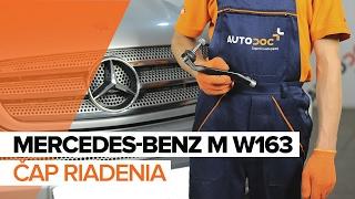 Demontáž Čap riadenia MERCEDES-BENZ - video sprievodca