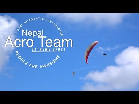 Extreme acrobatic paragliding | Nepal Acro Team | People are awesome | Extreme sports Gopro 2016