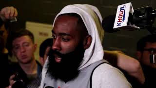 James Harden interview before Game 2 against the Warriors