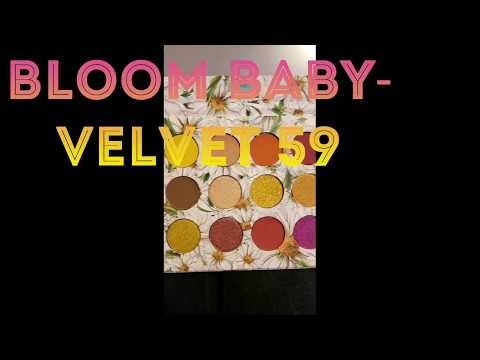 Velvet 59 Bloom Baby Palette/Swatches/Todays Lewk