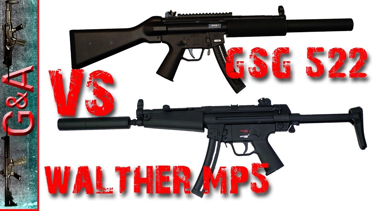 Walther H&K MP5 VS GSG 522 22lr