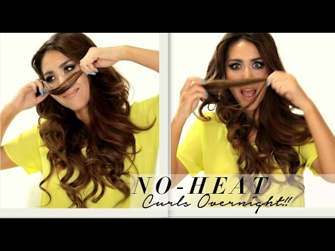 ★ Seriously EASY NO-HEAT CURLS Hairstyle & WEN 1st-Impression   SCHOOL HAIRSTYLES