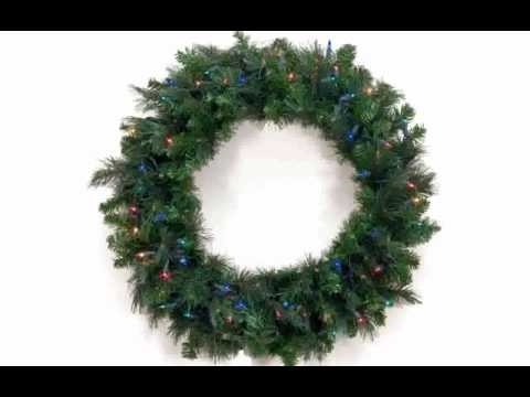 artificial christmas wreaths - Artificial Christmas Wreaths Decorated