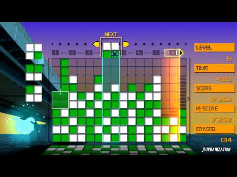 LUMINES REMASTERED (PS4 Pro, 1080p 60fps) - The first 10 minutes of gameplay