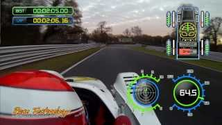 Race Technology DL1 Data and GoPro Sync - Radical Oulton Park
