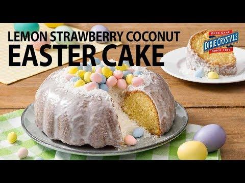 Easter Pound Cake Recipe - Lemon Strawberry Coconut