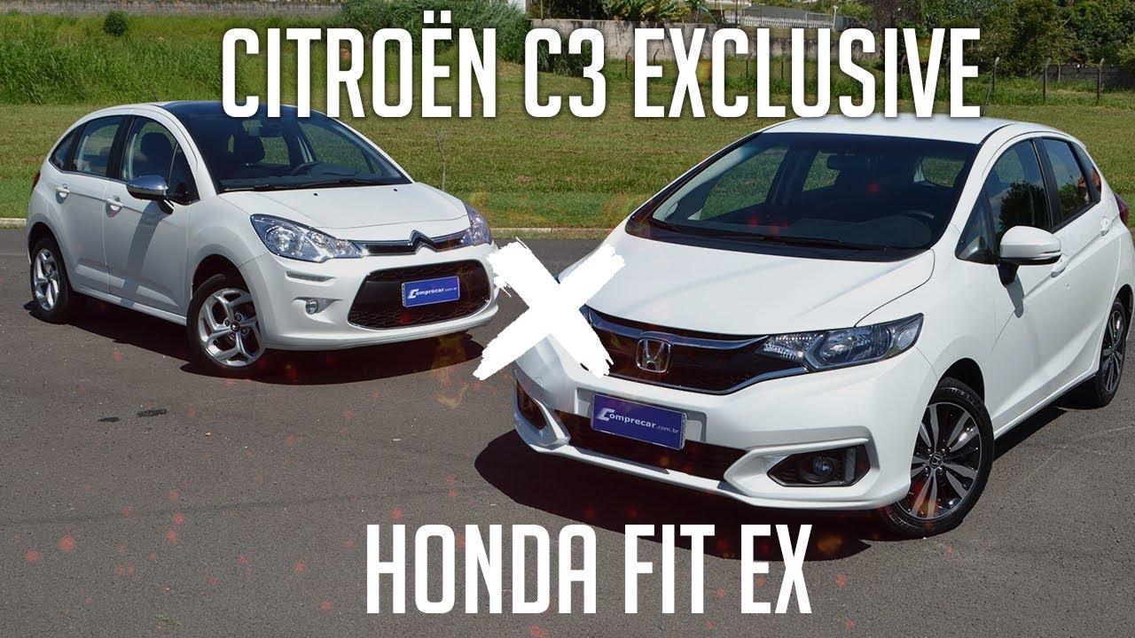 Compartivo Citroen C3 Exclusive X Honda Fit EX