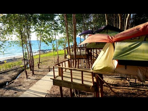 Our Tent in the trees in Koh Rong [ Cambodia 2016 ]