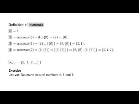 1.12 von Neumann natural numbers - an overview