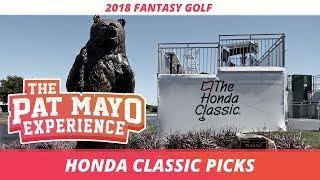 Fantasy Golf Picks: 2018 Honda Classic Picks, Sleepers, and Rankings
