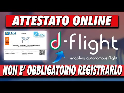 ATTESTATO ONLINE su D-FLIGHT - Ora PUOI INSERIRLO ma NON FARLO! * Ti Spiego Perchè * from YouTube · Duration:  8 minutes 27 seconds
