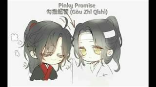 [ENG SUB/Pinyin] Pinky Promise - 勾指起誓 (Gōu Zhǐ Qǐshì) Wangxian Lyric Video Cute Titktok Chinese Song