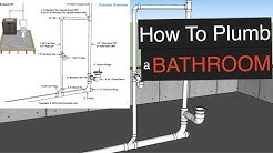How To Plumb a Bathroom (with free plumbing diagrams)