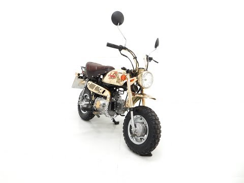 A Collectors 1985 Honda Z50JF Monkey Bike Gold Limited Edition with Just 1 Mile! - SOLD!