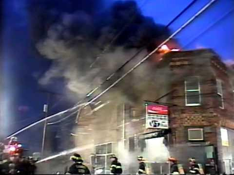 Lodi NJ Fire Dept Throwback to Jan 27th 1998 Heavy fire in a 2 story brick Multi-Occupancy