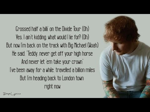 Ed Sheeran - Take Me Back To London (Lyrics) feat. Stormzy