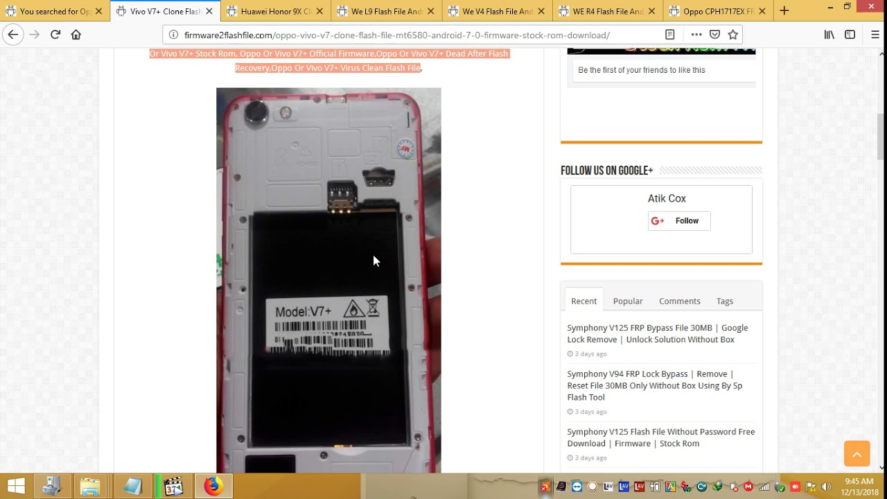Vivo V7+ Clone Flash File All Version MT6580 Android 7 0 Firmware Stock Rom  Download
