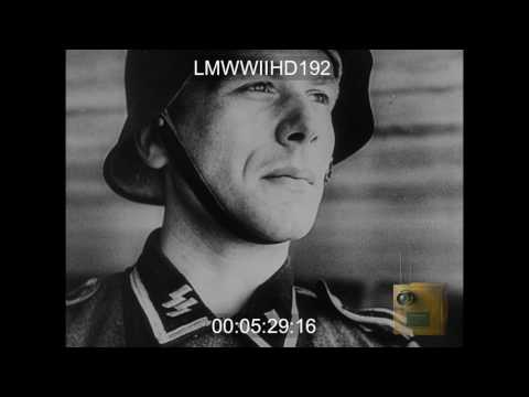 UFA NEWS #668; GERMAN VERSION OF D-DAY, GERMANS RESPOND TO INVASION, UFA REEL GERMAN A - LMWWIIHD192
