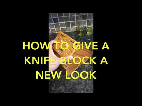 How to refinish a knife block