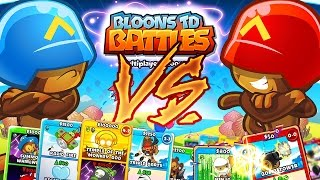 BLOONS CARD BATTLE 1VS1 *BEST STRATEGY EVER* ...