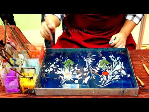 🔴 How to paint on Water for Paper Marbling and Ebru Art.