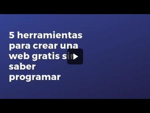 herramientas para hacer web gratis