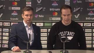 SaiPa–Pelicans -lehdistötilaisuus 14.12.2018