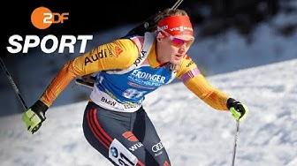 Herrmann siegt fehlerfrei im Biathlon-Einzel | SPORTextra - ZDF