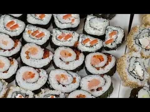 канал вкусного настроения суши с красной икрой Sushi With Red Kavia