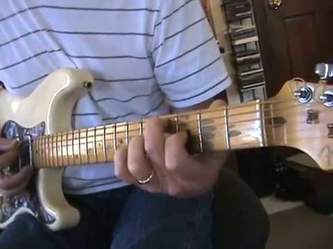 Guitar  Solo E Blues rhythm and fills, Tutorial