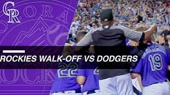 McMahon hits walk-off homer to rally Rox past Dodgers
