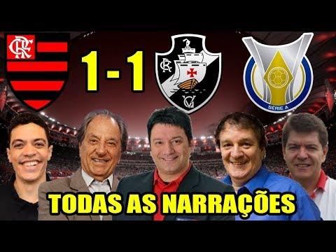 Todas as narrações - Flamengo 1 x 1 Vasco / Brasileirão 2018