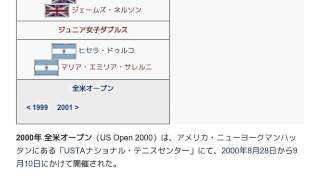 「2000年全米オープン (テニス)」とは ウィキ動画
