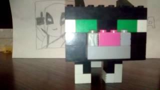 обзор Лего самаделка кот из игры Майнкрафт
